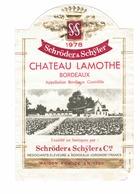 Rare Etiquette De Vin // Bordeaux // Château Lamothe // 1978 - Bordeaux