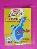 Magnet - Savane Brossard - Carte De L'Europe - Norvège - NEUF SOUS BLISTER - Tourisme