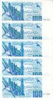 ALGERIA 100  DINAR 1981 P-131 LOT X5 AU/UNC NOTES */* - Algeria