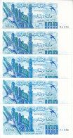 ALGERIA 100  DINAR 1981 P-131 LOT X5 UNC NOTES */* - Algerije