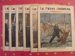 """6 N° """"le Petit Journal Illustré"""" Janvier-mars 1930. Crime Taxi Mutinerie Forçats Rugby Mine Drame Tonkin Soviets - Livres, BD, Revues"""
