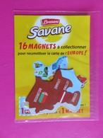 Magnet - Savane Brossard - Carte De L'Europe - Estonie - Lettonie - Lituanie - Biélorussie - NEUF SOUS BLISTER - Autres