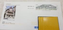 """2scans PAP Précasé Avec Timbre """"Chinon"""" Sur Papier Glacé Et Illustration """"La Maison Rouge - Ganzsachen"""