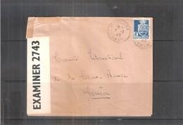 Lettre Censurée De Oran Vers Comité International De La Croix-Rouge à Genève - 1943 (à Voir) - Algerien (1924-1962)