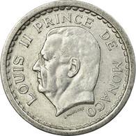 Monnaie, Monaco, Louis II, Franc, Undated (1943), Poissy, TTB+, Aluminium - Monaco