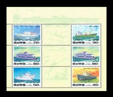 North Korea 1994 Mih. 3529/33 Ships (M/S) MNH ** - Korea (Nord-)