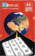 -CARTE-PREPAYEE-INTERCALL -60U-FRANCE-31/12/2000-N° CODE Sur Fond Blanc-V° Texte Haut Ecrit Rouge-GRATTEE-TBE- - Autres Prépayées
