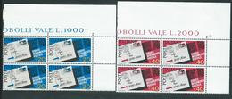 Italia 1967; CAP ; Codice Di Avviamento Postale.Serie Completa In Quartine D' Angolo Superiore. - 1961-70:  Nuovi
