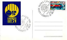 ITALIA - 1971 PARMA Europei Di Baseball (Logo Con Guantone E Pallina) Su Cartolina Speciale Del Comitato Organizzatore - Francobolli