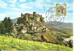 ITALIA - 1984 BARDI (PR) Castello Di Bardi Ann. Fdc Serie Castelli Cu Cartolina Illustrata - Vacanze & Turismo