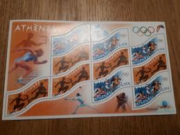 JO Athènes 2004 10 Timbres - Sheetlets