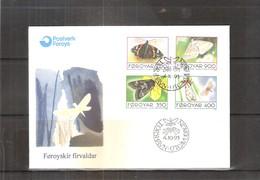 Papillons - FDC Féroë - 1993  - Série Complète (à Voir) - Papillons