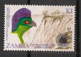 Zambia - 1983 - N°Yv. 277 - Oiseau / Touraco - Neuf Luxe ** / MNH / Postfrisch - Cuckoos & Turacos