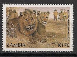 Zambia - 1987 - N°Yv. 386 - Lion - Neuf Luxe ** / MNH / Postfrisch - Félins