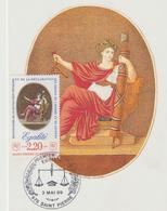 Carte-Maximum ST PIERRE Et MIQUELON N° Yvert 500 (EGALITE) Obl Sp Ill 1er Jour (Ed Emp Combier 617) - Maximumkaarten