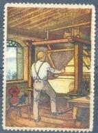 """Vignette  """"Seiden Grieder - Handwebstuhl""""          Ca. 1920 - Suisse"""