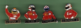 GRAND PRIX F1 *** PILOTES A.SENNA-J.ALESI-A.PROST-G.BERGER *** 1001 - Car Racing - F1