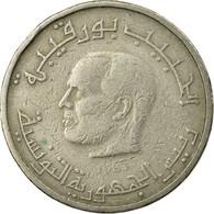 Monnaie, Tunisie, 1/2 Dinar, 1983, Paris, TB, Copper-nickel, KM:303 - Tunisia