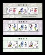 North Korea 1996 Mih. 3827/29 Kids Games (3 M/S) MNH ** - Corea Del Nord