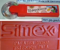 Rare Kaleidoscope Plastique Vintage Rolleydoscop SIMEX USa Us Patent W Germany - Autres