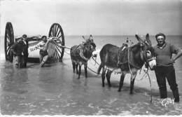 PECHE En MER - 85 - NOTRE DAME DE MONTS : Retour De Pêche ( Attelage D'ânes ) - CPSM N/B PF 1975 - Vendée - Pêche