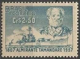 LSJP BRAZIL ALMIRANTE TAMANDARE SHIP 1957 - Brazil