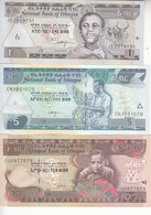 ETHIOPIA 1 5 10 BIRR 2008 2015 P-46 47 48 UNC SET */* - Aethiopien