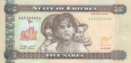 ERITREA 5 NAKFA 2015 P-14 UNC */* - Eritrea
