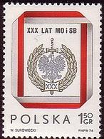 Poland 1974 Mi 2337 30 Years Of Militia And Security Service. MO SB Eagle.  MNH** W 1247 - 1944-.... République