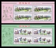 North Korea 2009 Mih. 5396/97 Folk Games (2 M/S) MNH ** - Korea (Nord-)
