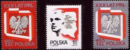 Poland 1974 Mi 2324 - 2326 30 Years Of The PRL Map, Eagle MNH** W 1248 - Ungebraucht