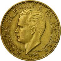 Monnaie, Monaco, Rainier III, 20 Francs, Vingt, 1950, TB+, Aluminum-Bronze - 1949-1956 Anciens Francs