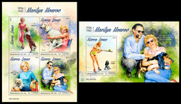 SIERRA LEONE 2019 - Marilyn Monroe. M/S + S/S Official Issue. - Sierra Leone (1961-...)