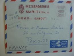 """Messageries Maritimes  CARGO """"INDUS  """" Envoyé   DJIBOUTI 1963 Affranchissement  Machine  Française Des Somalies  Avri - Afars Et Issas (1967-1977)"""