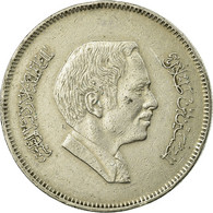 Monnaie, Jordan, Hussein, 50 Fils, 1/2 Dirham, 1991/AH1411, TTB, Copper-nickel - Jordanie