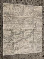 CARTE ETAT MAJOR ENTOILEE PROVINS VILLIERS SAINT GEORGES LOUAN LECHELLE LONGUEVILLE GOUAIX NOGENT SUR SEINE VILLENAUXE - Cartes Topographiques
