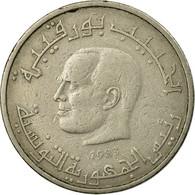 Monnaie, Tunisie, 1/2 Dinar, 1983, Paris, TB+, Copper-nickel, KM:303 - Tunisia