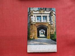Entrance To Library Courtyard Princeton University Princeton    NJ-  ---------ref 3300 - United States