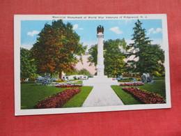 Monument Of World War Veterans Of Ridgewood     NJ ---------ref 3300 - United States