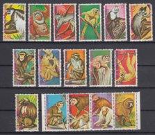 Equatorial Guinea Monkeys 1975 Mi#720-735 Used Complete Set - Äquatorial-Guinea