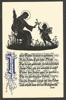 AUSTRIA. POSTCARD. MOTHERS DAY 1936. SILHOUETTE. ADALBERT MAYHOFER - Scherenschnitt - Silhouette