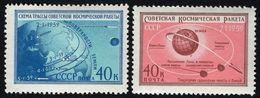 Russia/USSR 1959,Space LUNA-1, Scott # 2187-88,VF MNH** (KV-2) - Russia & USSR
