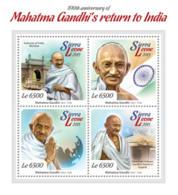 Sierra Leone 2015  Mahatma Gandhi ,flag Of India - Sierra Leone (1961-...)