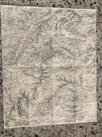 CARTE ETAT MAJOR ENTOILEE LA PEYROUSE MENAT EBREUIL ECHASSIERES VALIGNAT POUZOL ARTONNE MANZAT SAINT PARDOUX  ST ANGEL - Cartes Topographiques