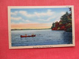 Greetings From Lake Owassa NJ ------ref 3300 - United States
