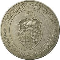 Monnaie, Tunisie, Dinar, 1996/AH1416, Paris, TB+, Copper-nickel, KM:347 - Túnez
