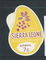 Sierra Leone 1968 Cola Nut Self Adhesive 7c Airmail Plain Back MNH - Sierra Leone (1961-...)