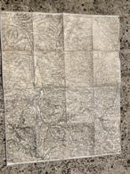 CARTE ETAT MAJOR ENTOILEE ROANNE CHARLIEU CORDELLE CHAUFFAILLES AMPLEPUIS LA BENISSONS DIEU BRIENNON VILLEREST PRADINES - Topographical Maps