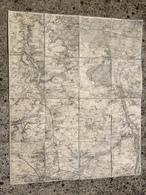 CARTE ETAT MAJOR ENTOILEE MALESHERBES NEMOURS CHATEAU LANDON PUISEAUX URY LARCHANT BRIARRES MONDREVILLE MAISONCELLES - Cartes Topographiques