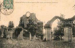 Kq19148 Rumigny_Ardennes Ruines De L'Abbaye De Bonne Fontaine Rumigny Ardennes - France